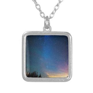 Beam Me Up Silver Plated Necklace