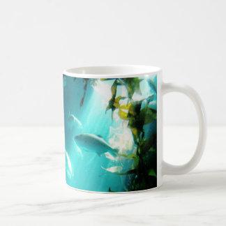 Beam of Light Underwater Fish Swimming Coffee Mugs