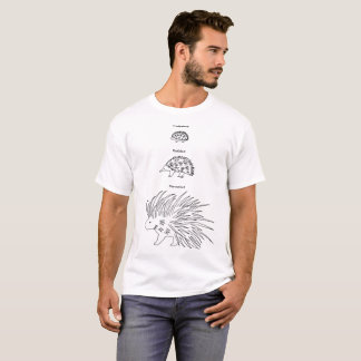 < Beam - zu (English - black > Hedgehog, Echidna T-Shirt
