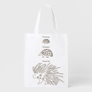 < Beam - zu (the alphabetical character - brown Reusable Grocery Bag