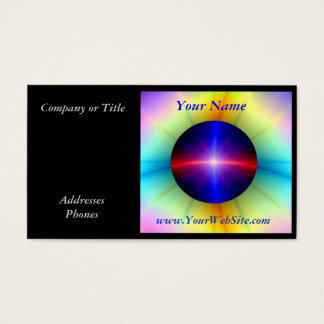 Beaming Crystal Power Business Card