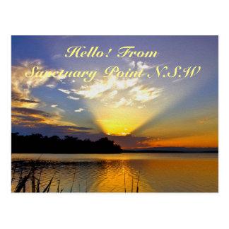 Beaming Sunset Postcard