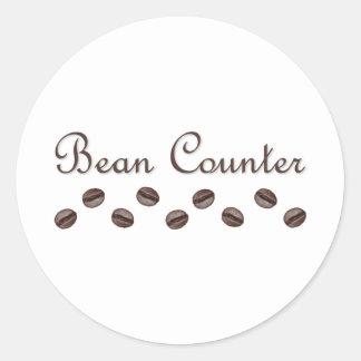 Bean Counter Classic Round Sticker