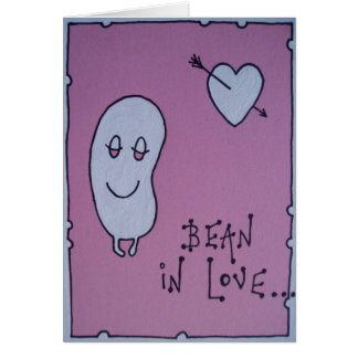 bean in love card