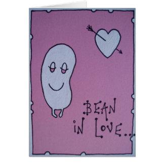 bean in love greeting card