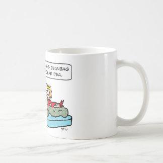 beanbag thrones king queen mugs