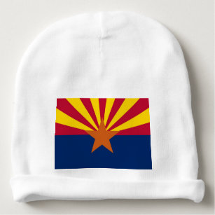 Beanie Baby Hat with flag of Arizona, USA Baby Beanie