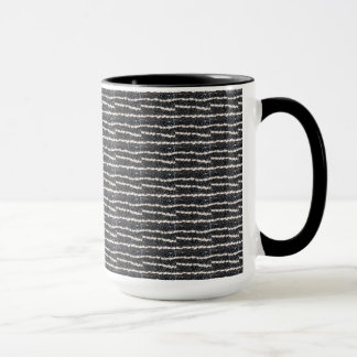 Beans Black & white lines horizontal pattern, mug