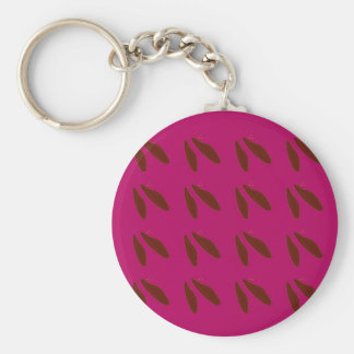 Beans on pink key ring