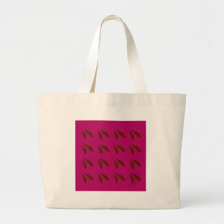 Beans on pink large tote bag