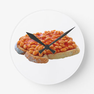 Beans on toast round clock