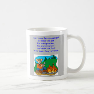 beans the nusical fruit fart rhyme, beans the n... coffee mug