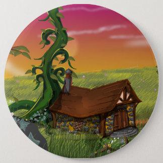 Beanstalk Cottage Cartoon 6 Cm Round Badge