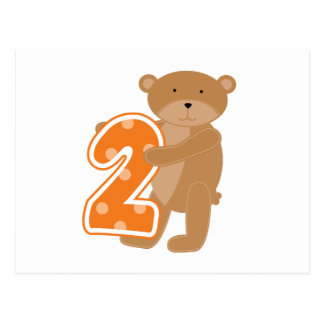 Bear 2nd Birthday T shirts and Gifts Postcard