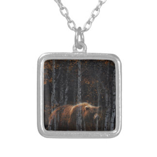 Bear 3 silver plated necklace