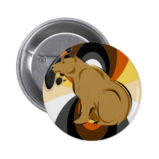 Bear 6 Cm Round Badge