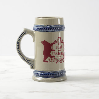 Bear and Badger Heraldic Beer Stein