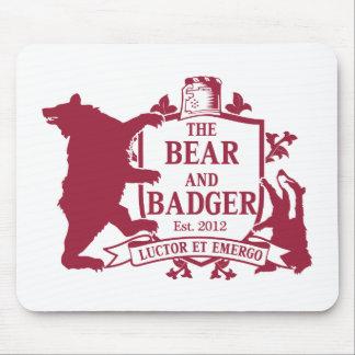 Bear and Badger Heraldic Mouspad Mouse Pad