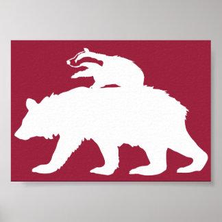 Bear and Badger Logo Poster