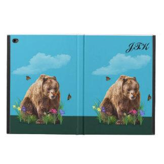 Bear and Butterflies, Customizable Monogram Powis iPad Air 2 Case