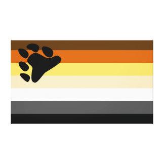 Bear and Cub Community LGBT Gay Pride Flag Stretched Canvas Print