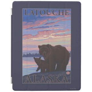 Bear and Cub - Latouche, Alaska iPad Cover
