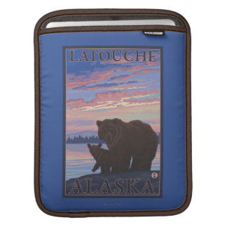 Bear and Cub - Latouche, Alaska Sleeves For iPads