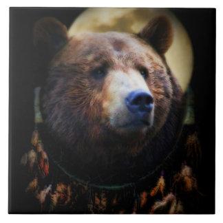 Bear and Dream Catcher Art Tile