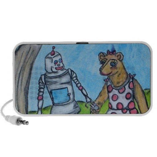 Bear and Robot friends Mini Speaker