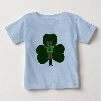 Bear and Shamrock on white Baby T-Shirt