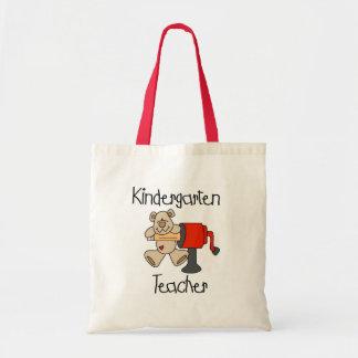 Bear and Sharpener Kindergarten Teacher Tote Bag
