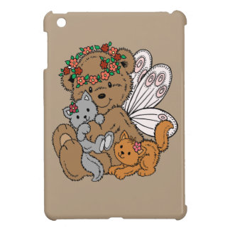 Bear Angel with Kittens Cover For The iPad Mini