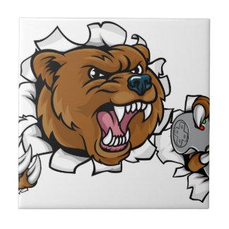 Bear Angry Esports Mascot Ceramic Tile
