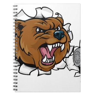Bear Angry Esports Mascot Notebooks