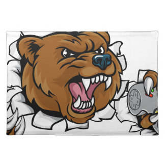 Bear Angry Esports Mascot Placemat