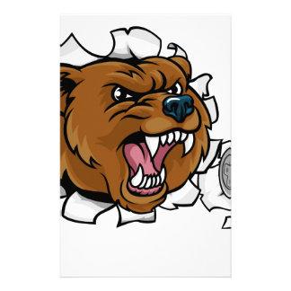 Bear Angry Esports Mascot Stationery