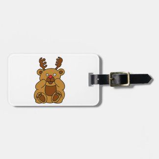 Bear Antlers Luggage Tag