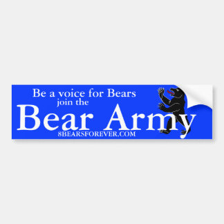 BEAR ARMY BUMPER STICKER