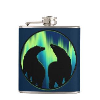 Bear Art Flask Custom Native Bear Drink Flask