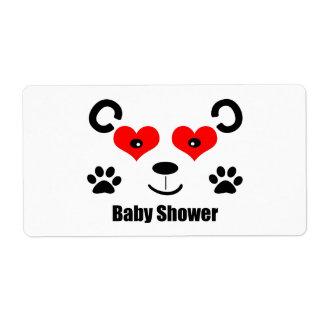 Bear Baby Shower Shipping Label