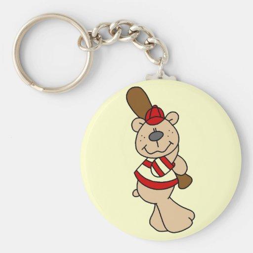 Bear Baseball Tshirts and Gifts Key Chain