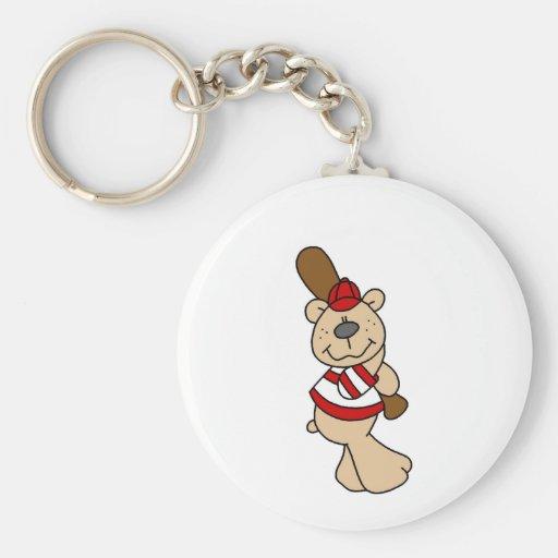 Bear Baseball Tshirts and Gifts Keychain