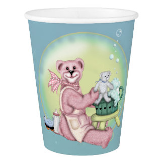 BEAR BATH LOVE  PAPER CUP