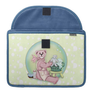 BEAR BATH LOVE Rickshaw Macbook Sleeve