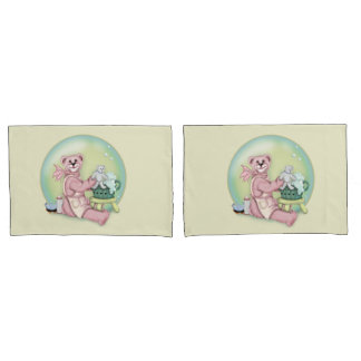 BEAR BATH Pair of Standard Size Pillowcases