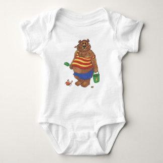 Bear Beach Baby Bodysuit