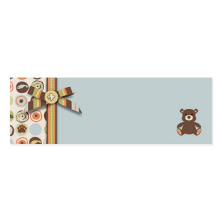 Bear Bear Boy Skinny Gift Tag Pack Of Skinny Business Cards