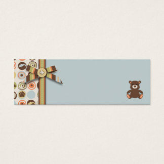 Bear Bear Boy Skinny Gift Tag Mini Business Card