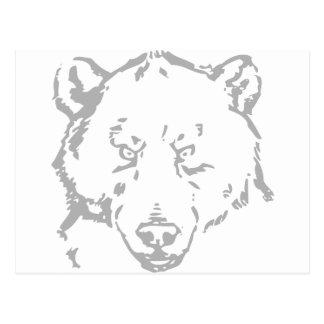 Bear Bears Brown Animal Forest Woodland Tree leaf Postcard