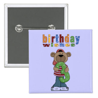 Bear Birthday Wishes # 3 Pin Button